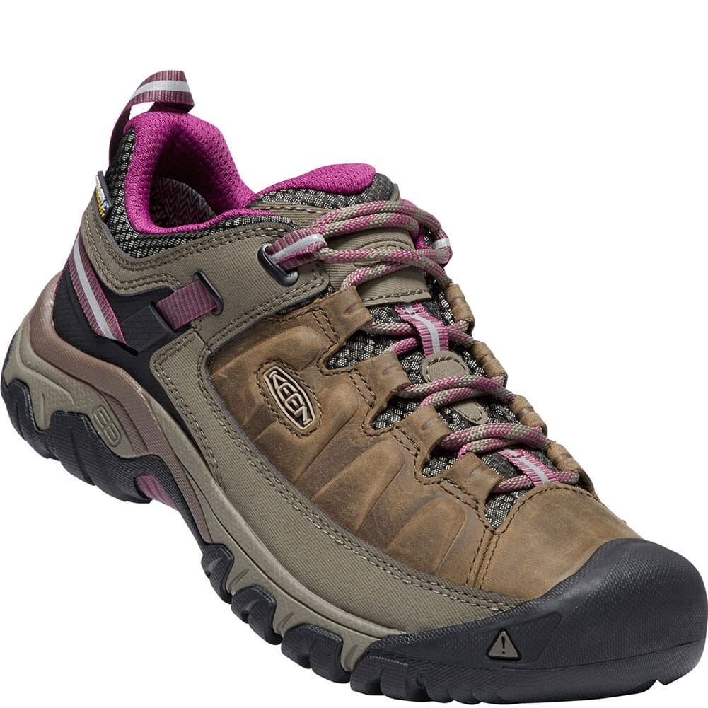 Image for Keen Women's Targhee III WP Hiking Shoes - Weiss/Boysenberry from elliottsboots