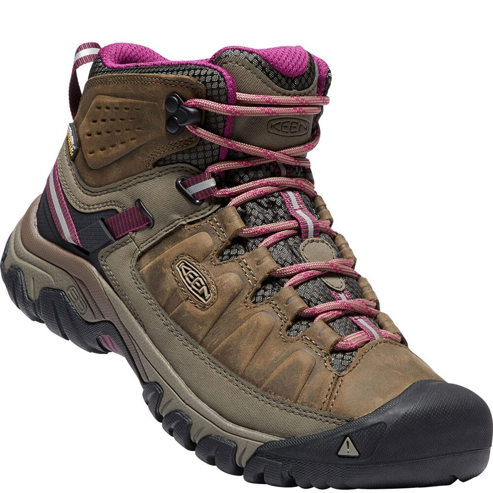 Image for Keen Women's Targhee III WP Hiking Boots - Weiss/Boysenberry from elliottsboots