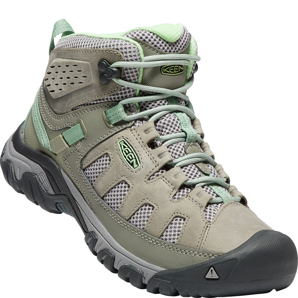 Image for KEEN Women's Targhee Vent Mid Hiking Boots - Fumo/Quiet Green from bootbay
