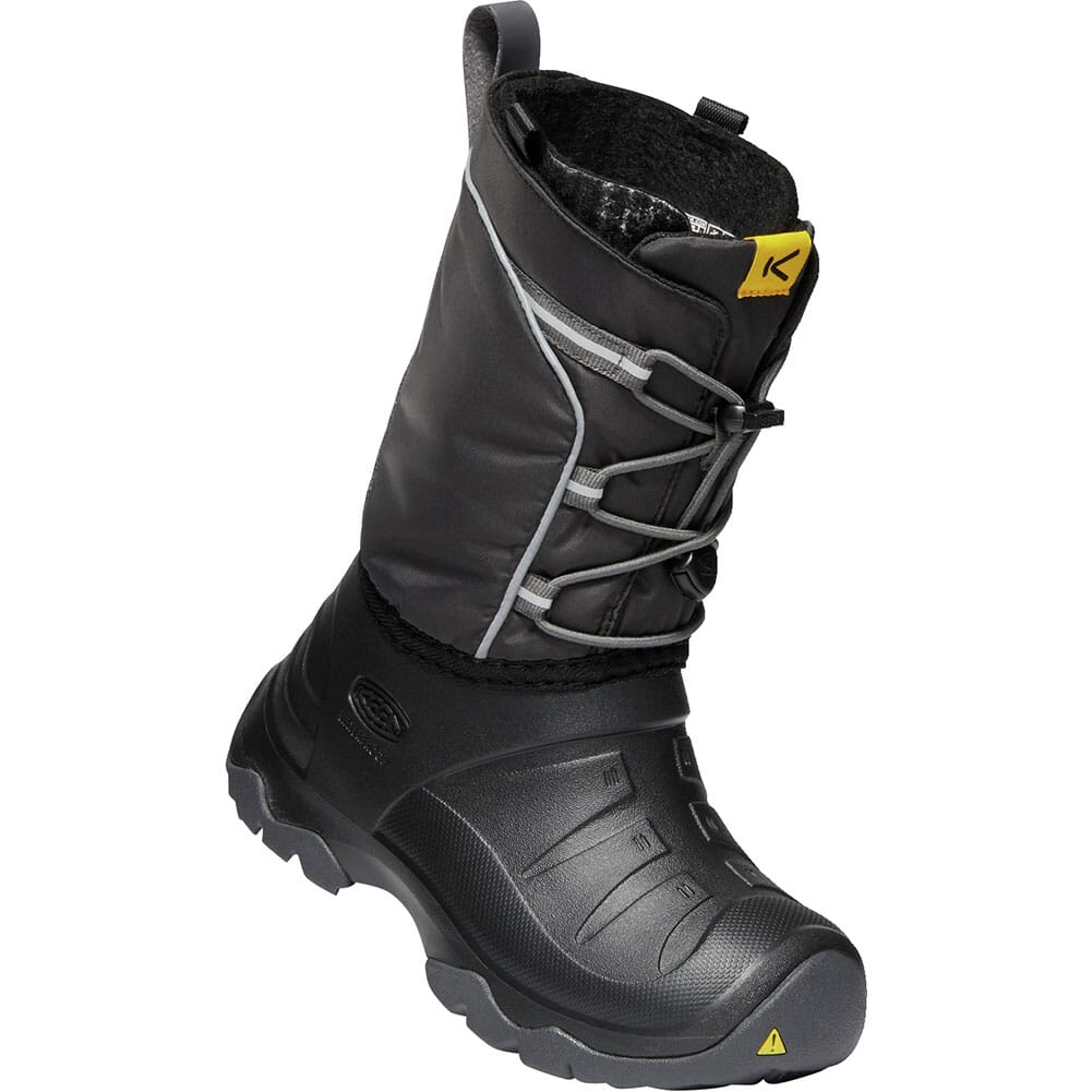 Image for KEEN Kid's Lumi WP Winter Pac Boots - Black/Magnet from elliottsboots