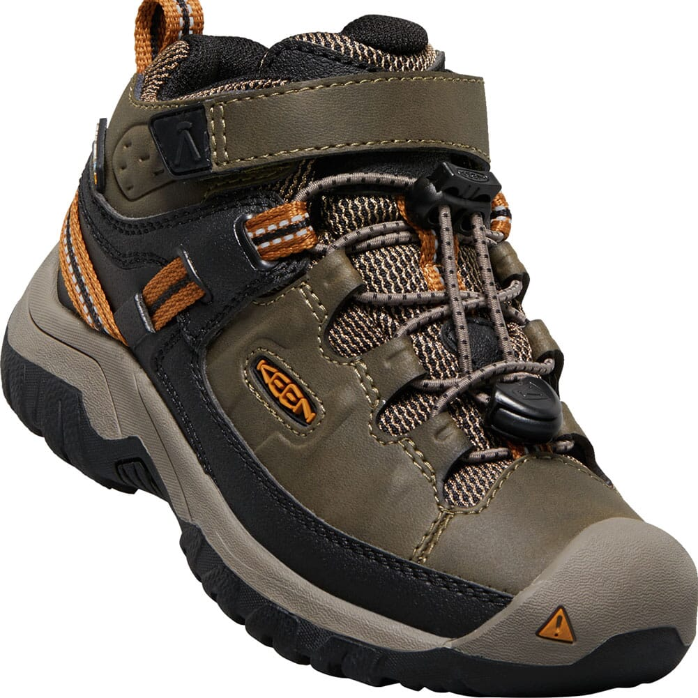 Image for KEEN Children Targhee Waterproof Hiking Boots - Dark Earth/Golden Brown from bootbay