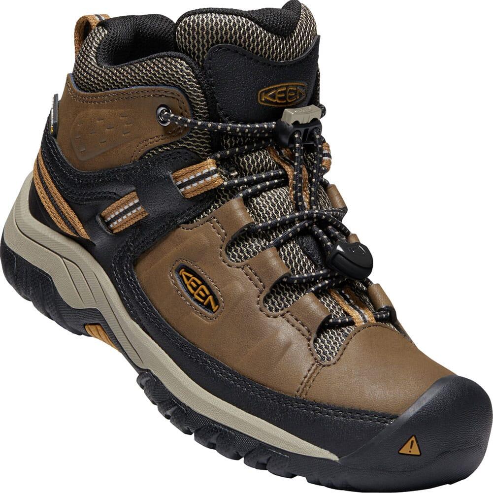 Image for KEEN Kids' Targhee Waterproof Hiking Boots - Dark Earth/Golden Brown from bootbay