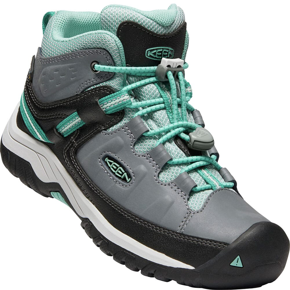 Image for KEEN Kids' Targhee Waterproof Hiking Boots - Steel Grey/Wasabi from bootbay