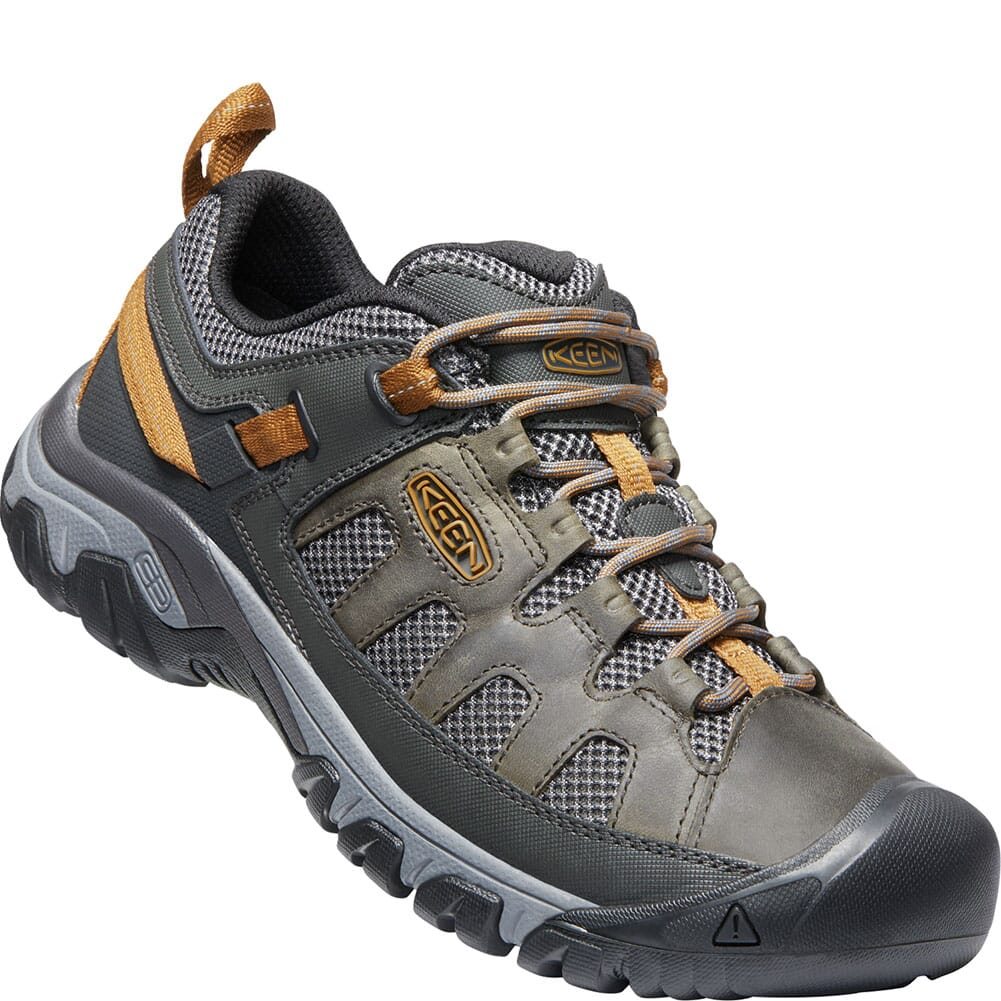 Image for KEEN Men's Targhee Vent Hiking Shoes - Raven/Bronze Brown from bootbay