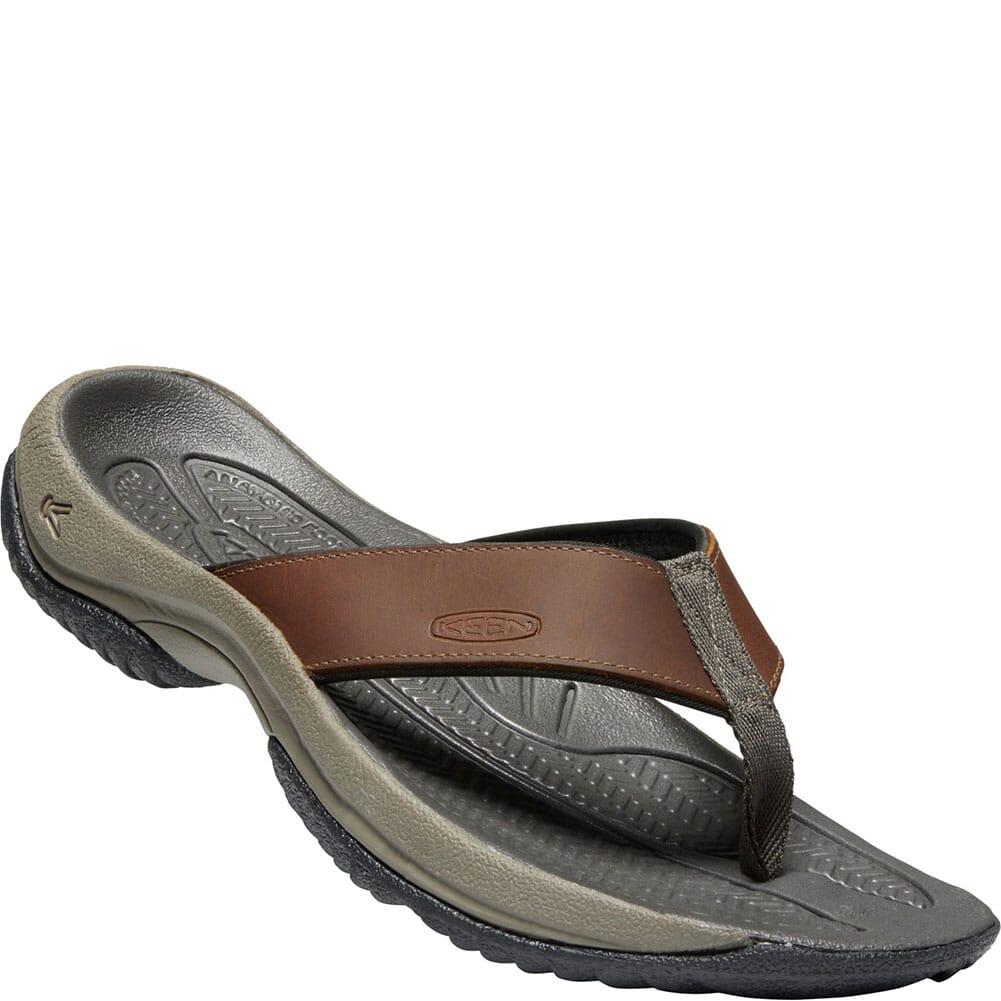 Image for KEEN Men's Kona Flip Premium Flip Flops - Oyster/Raven from bootbay