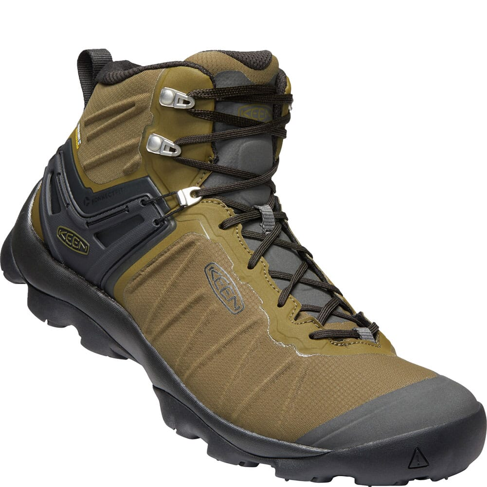 Image for KEEN Men's Venture Mid WP Hiking Boots - Dark Olive/Raven from bootbay