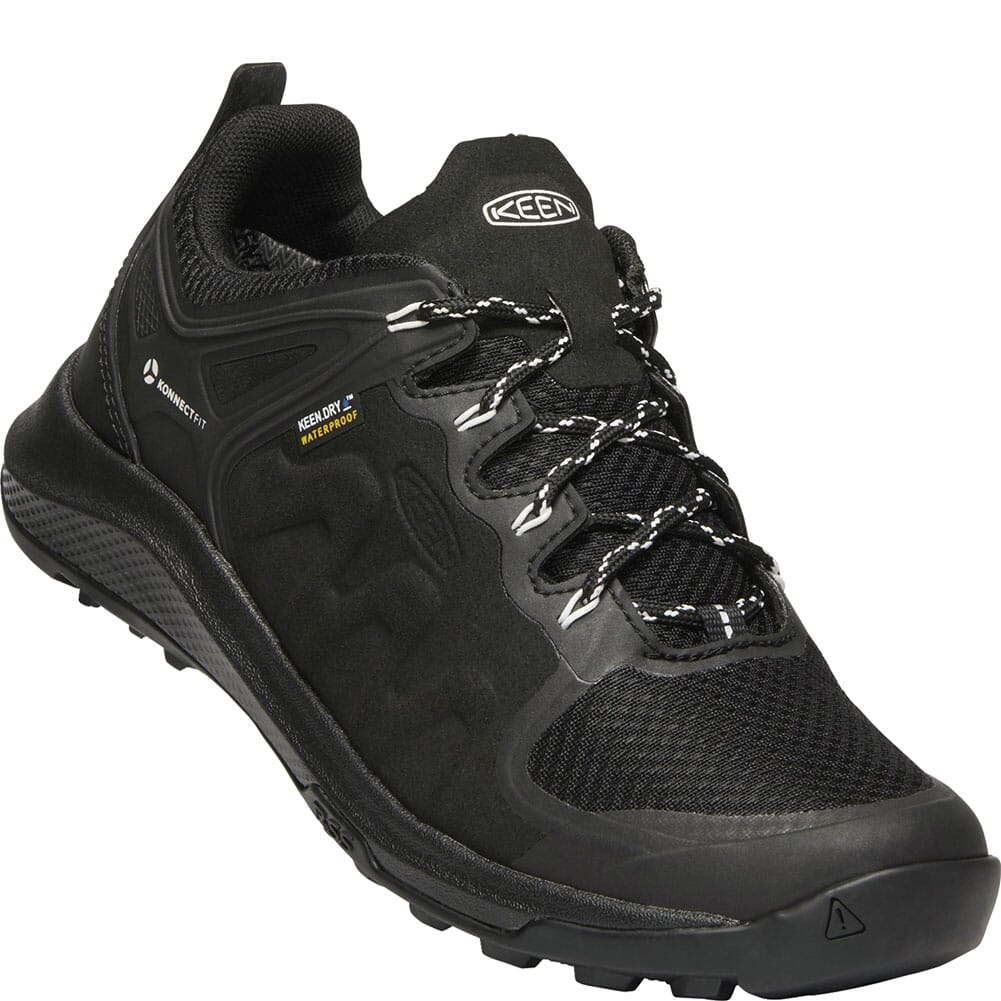 Image for KEEN Women's Explore WP Hiking Shoes - Black/Star White from bootbay