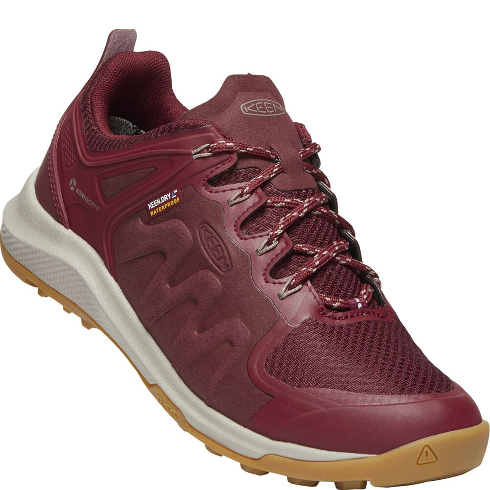 Image for KEEN Women's Explore WP Hiking Shoes - Tawny Port/Satellite from bootbay