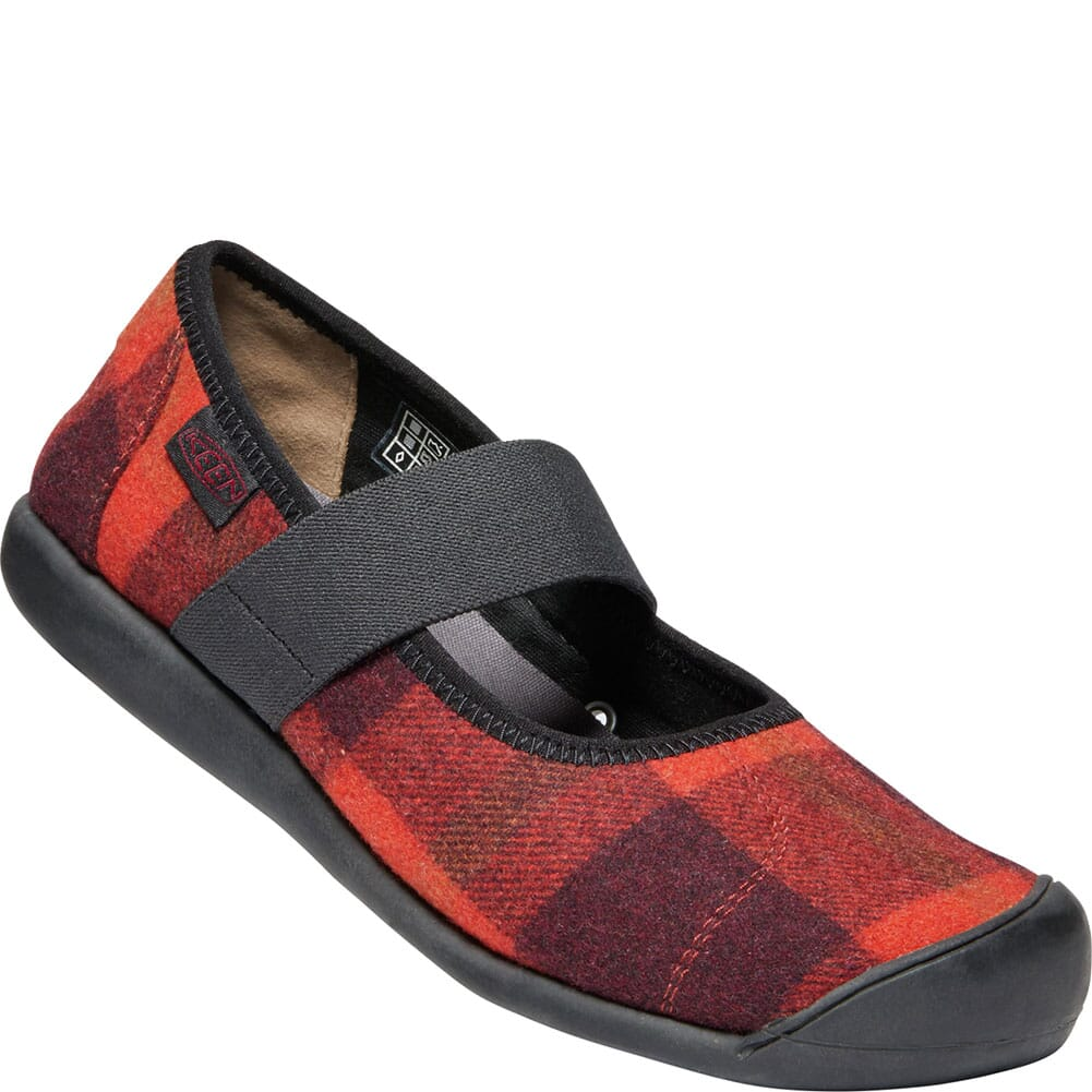 Image for KEEN Women's Sienna Mary Jane Plaid Casual Shoes - Red/Black from bootbay