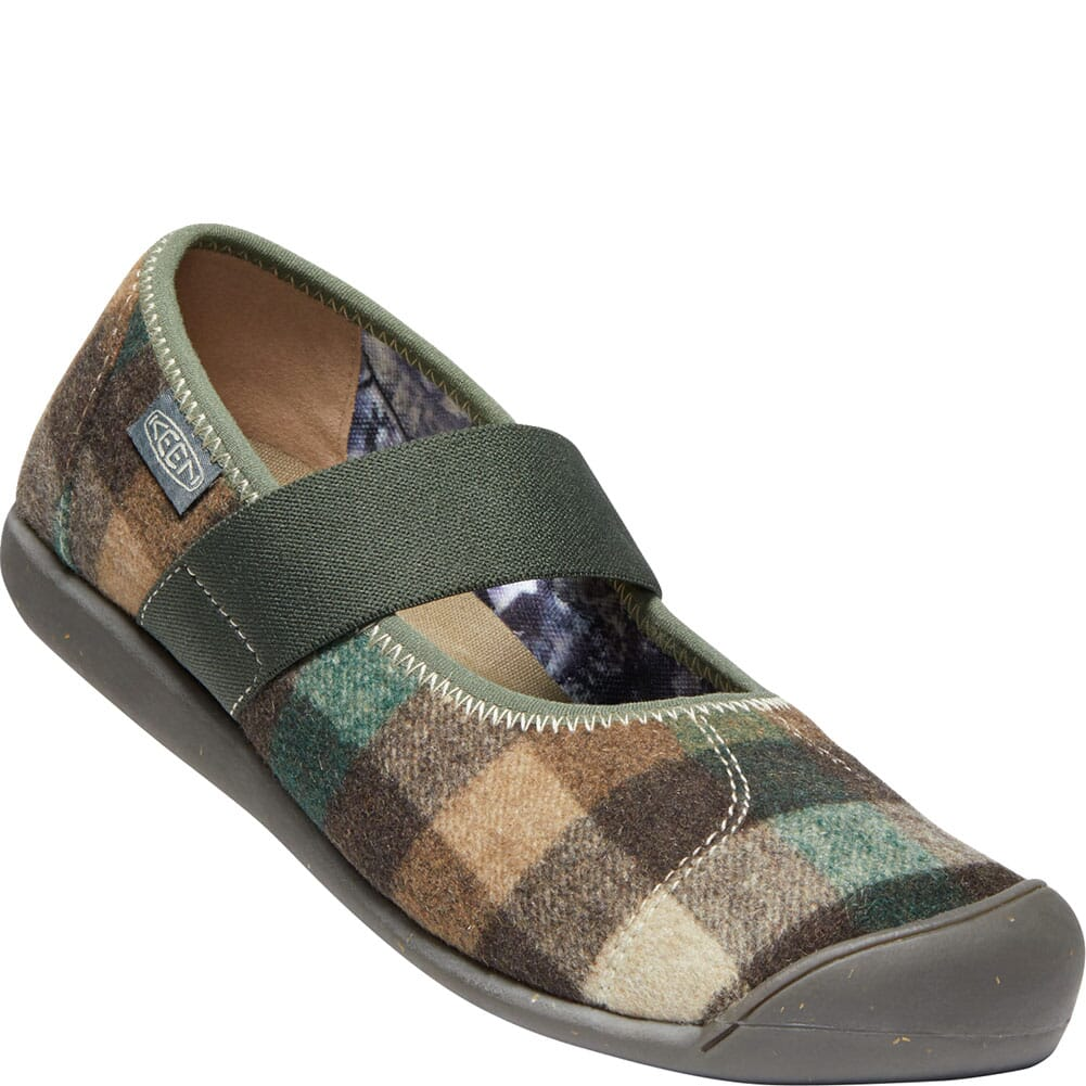 Image for KEEN Women's Sienna Mary Jane Plaid Casual Shoes - Brown/Climbing Ivy from bootbay
