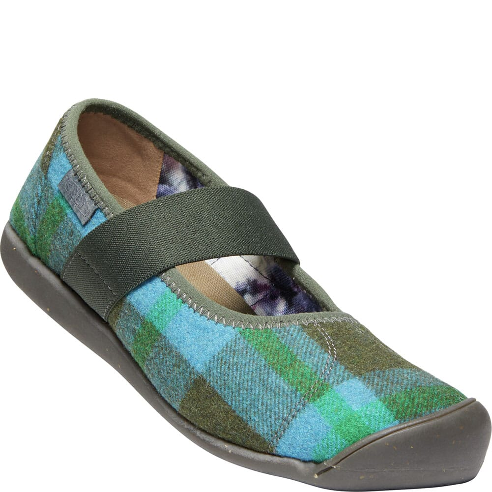 Image for KEEN Women's Sienna Mary Jane Plaid Casual Shoes - Blue/Climbing Ivy from bootbay