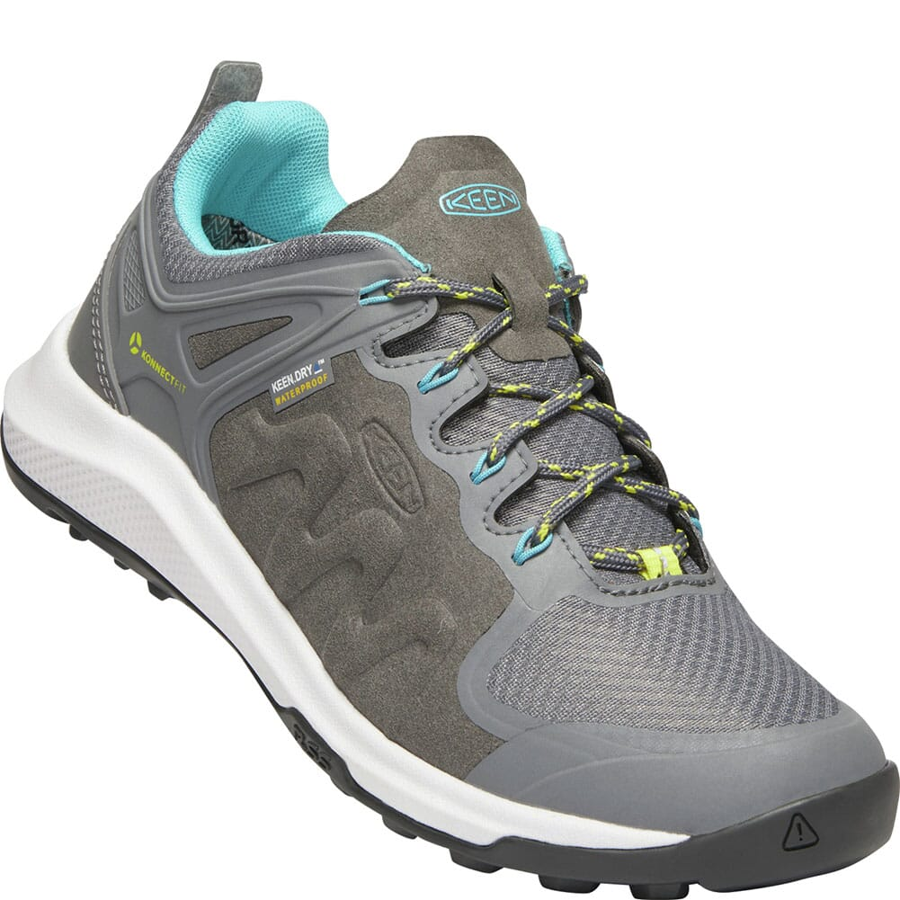 Image for KEEN Women's Explore WP Hiking Shoes - Steel Grey/Bright Turquoise from bootbay