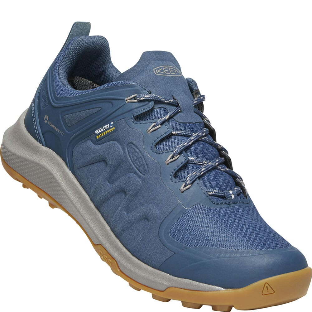 Image for KEEN Women's Explore WP Hiking Shoes - Majolica Blue/Satellite from elliottsboots