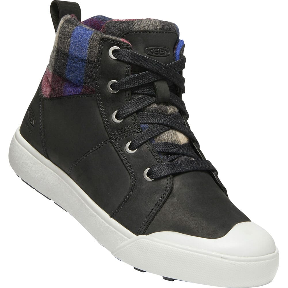 Image for KEEN Women's Elena Mid Casual Boots - Black/Plaid from bootbay