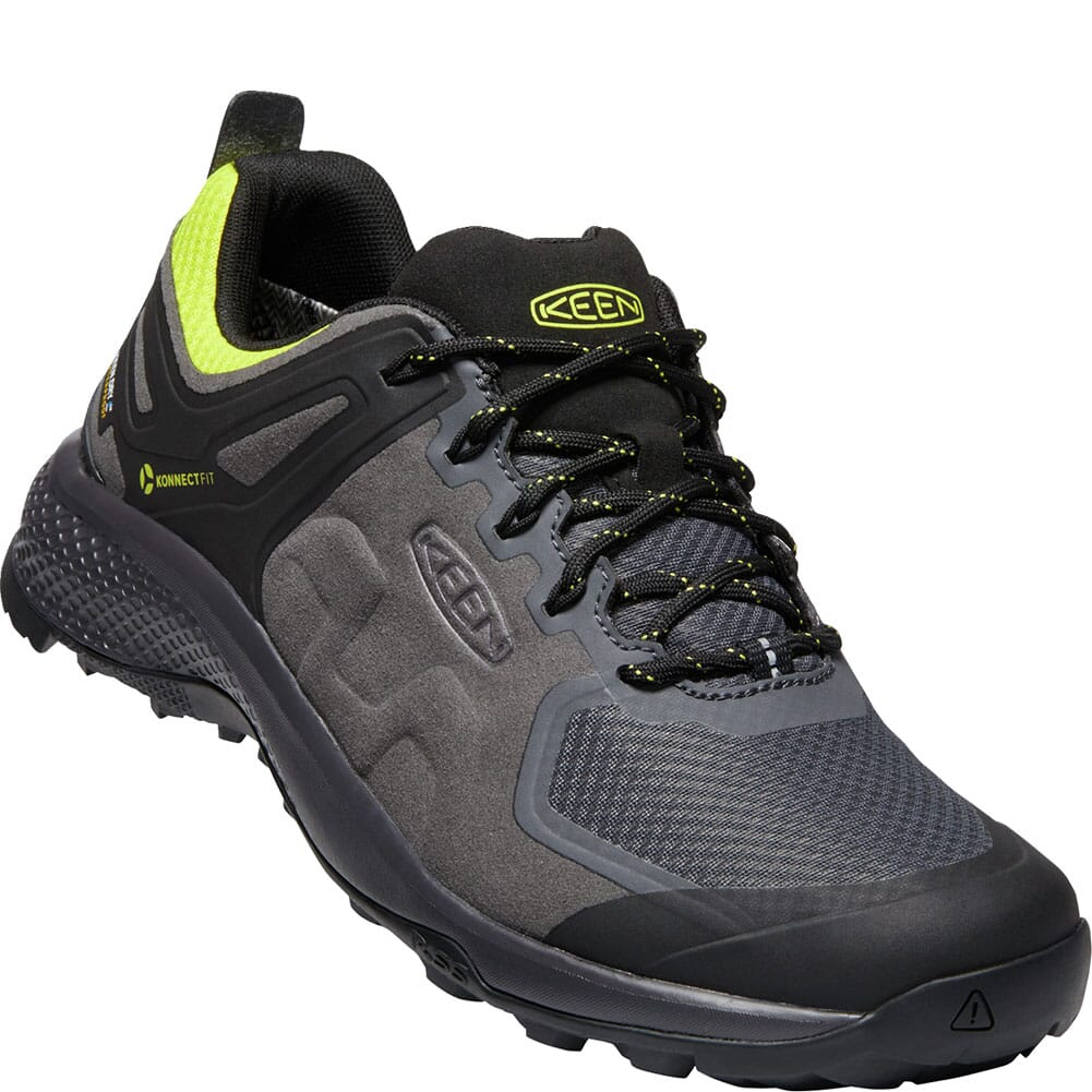 Image for KEEN Men's Explore WP Hiking Shoes - Magnet/Bright Yellow from bootbay