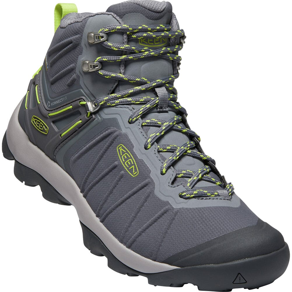 Image for KEEN Men's Venture Mid WP Hiking Boots - Magnet/Chartreuse from bootbay