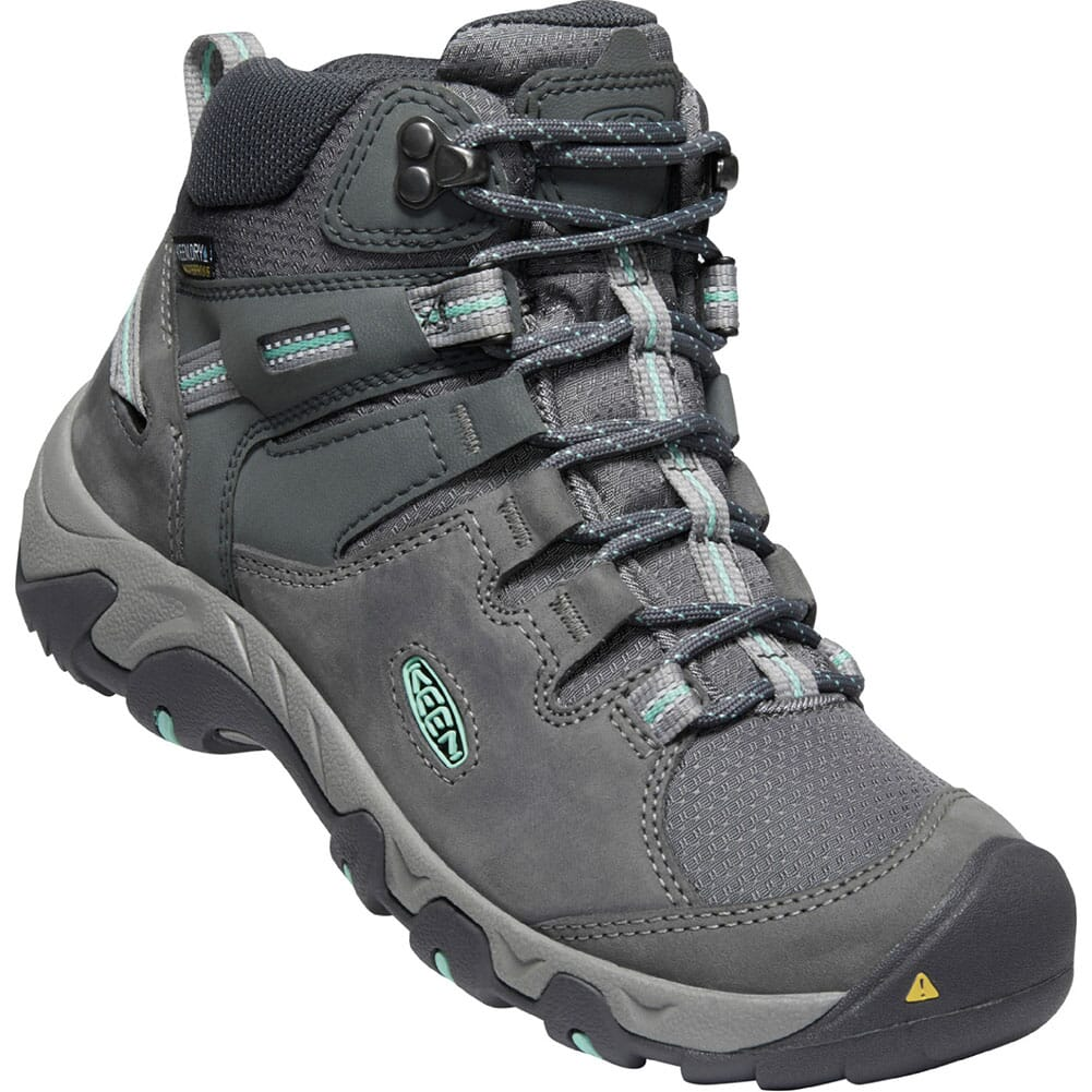 Image for KEEN Women's Steens Leather WP Hiking Boots - Steel Grey/Ocean Wave from bootbay