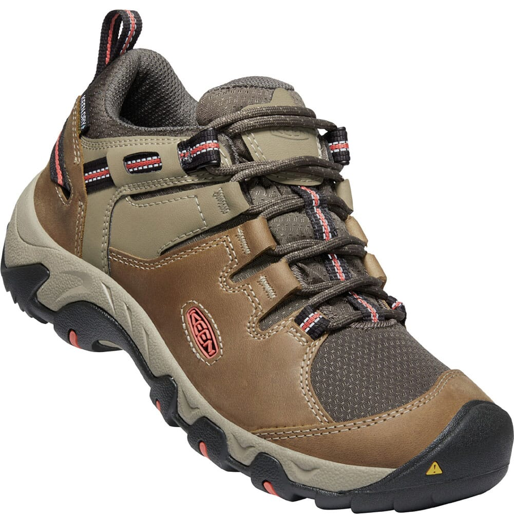 Image for KEEN Women's Steens WP Hiking Shoes - Timberwolf/Coral from bootbay