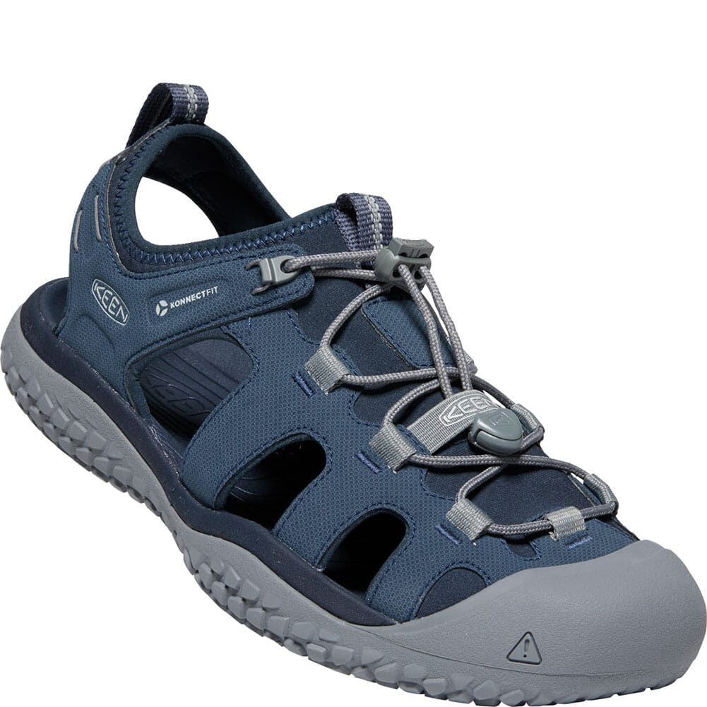 Image for KEEN Men's SOLR Sandals - Navy/Steel Grey from bootbay