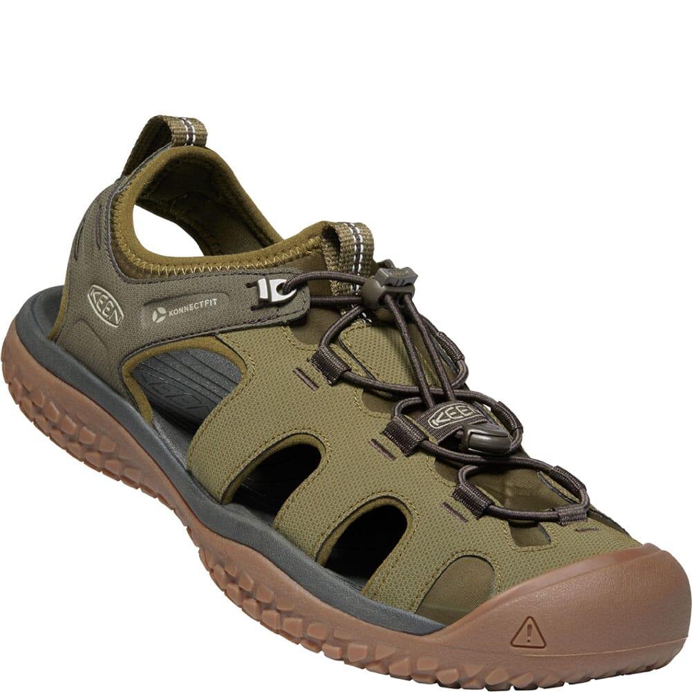 Image for KEEN Men's SOLR Sandals - Dark Olive/Taupe from elliottsboots