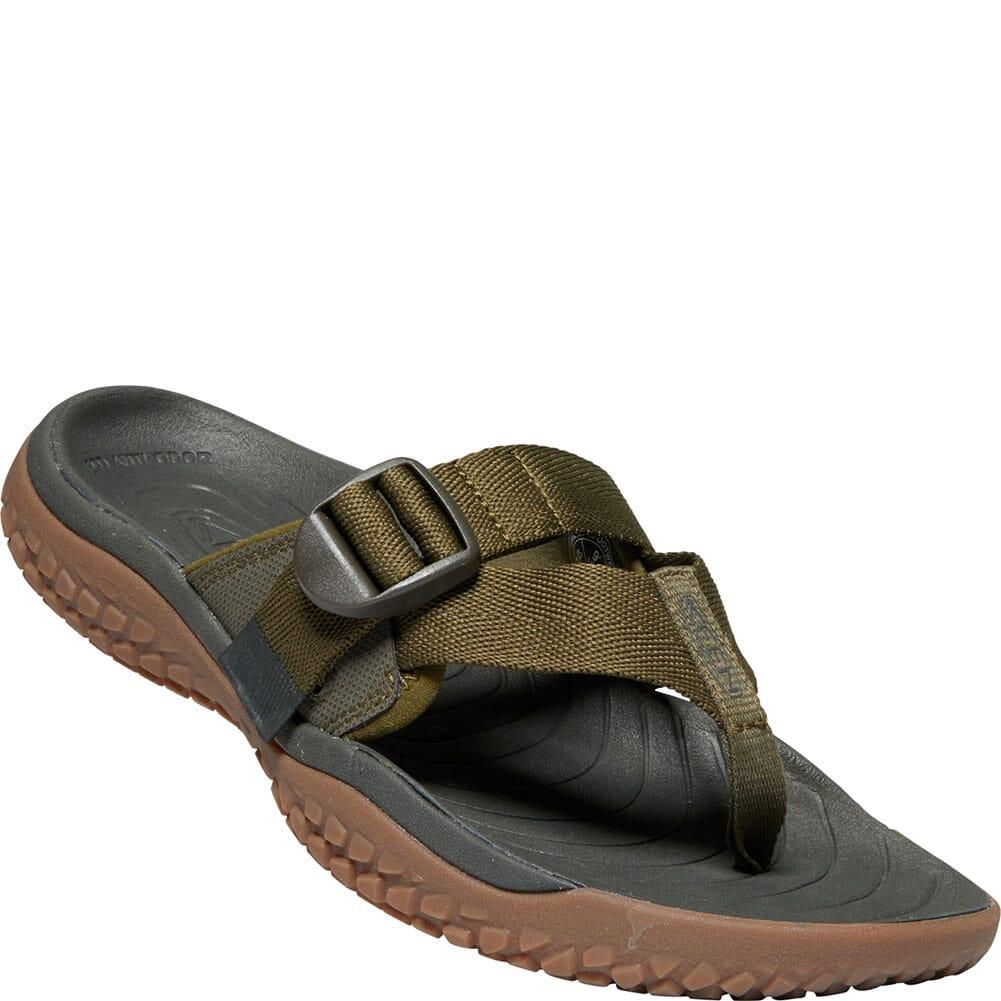 Image for KEEN Men's SOLR Toe Post Flip Flops - Dark Olive from bootbay