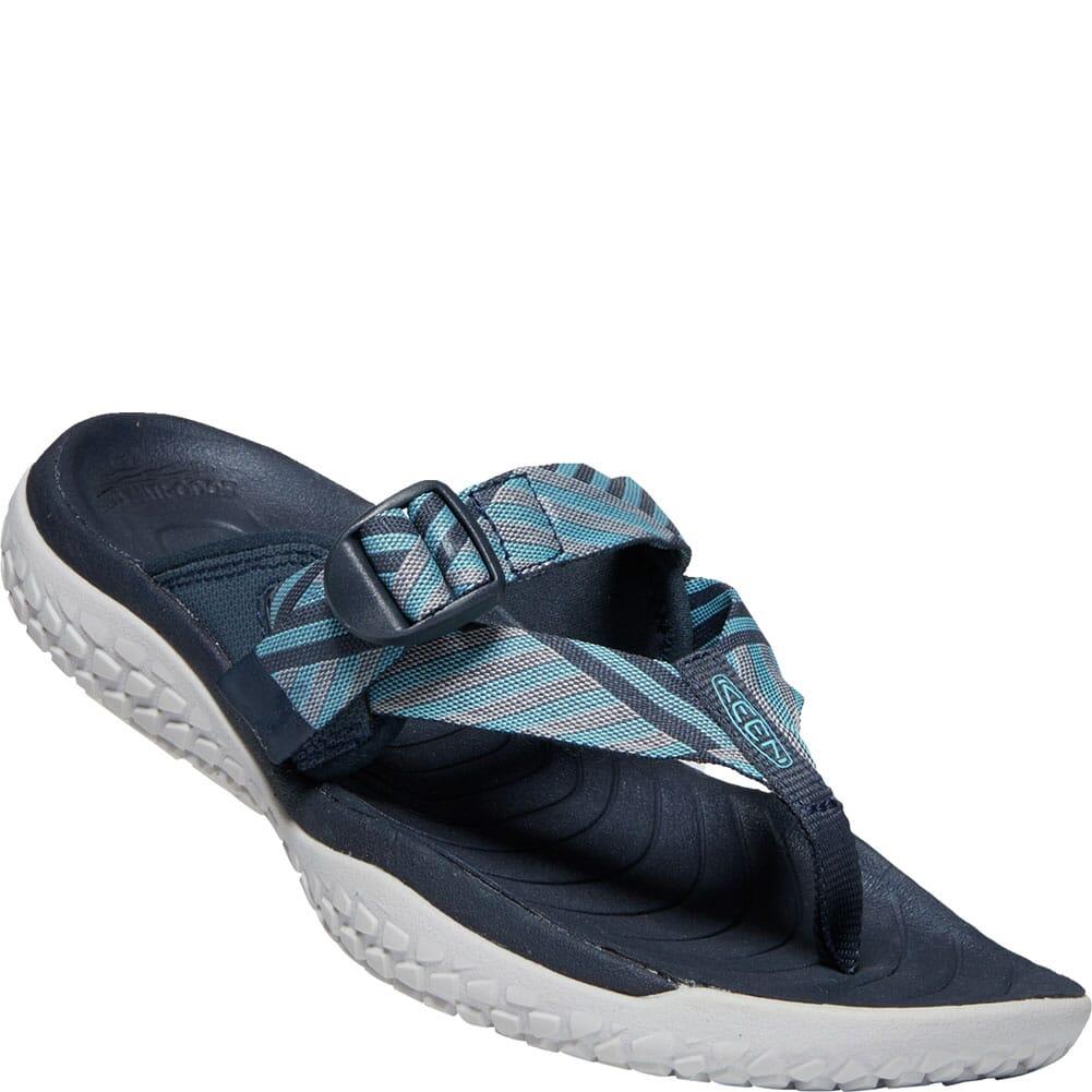 Image for KEEN Men's SOLR Toe Post Flip Flops - Navy/Blue Mist from bootbay