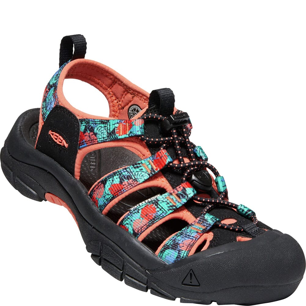 Image for KEEN Women's Newport H2 Sandals - Black Multi/Coral from elliottsboots