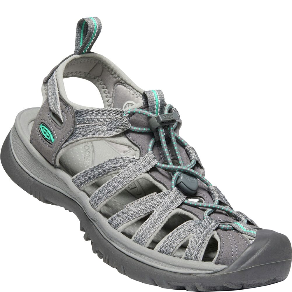 Image for KEEN Women's Whisper Sandals - Grey/Peacock Green from bootbay