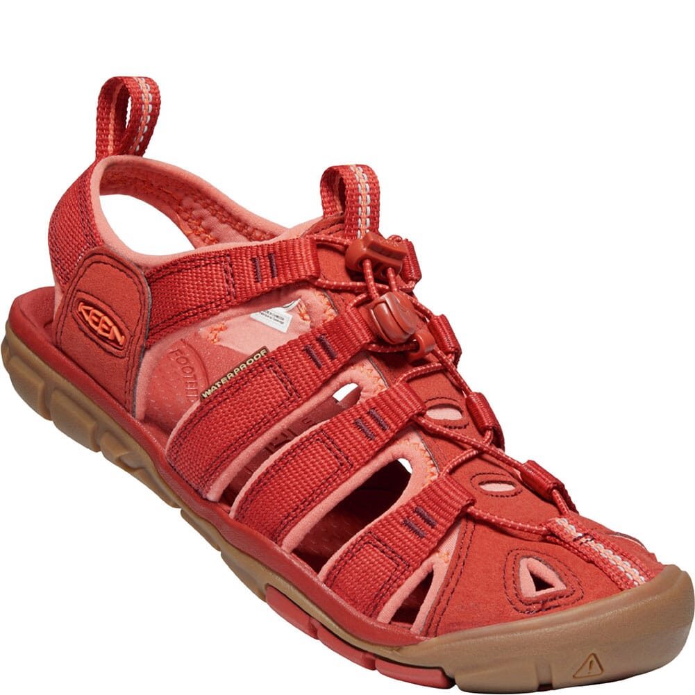Image for KEEN Women's Clearwater CNX Sandals - Dark Red/Coral from elliottsboots