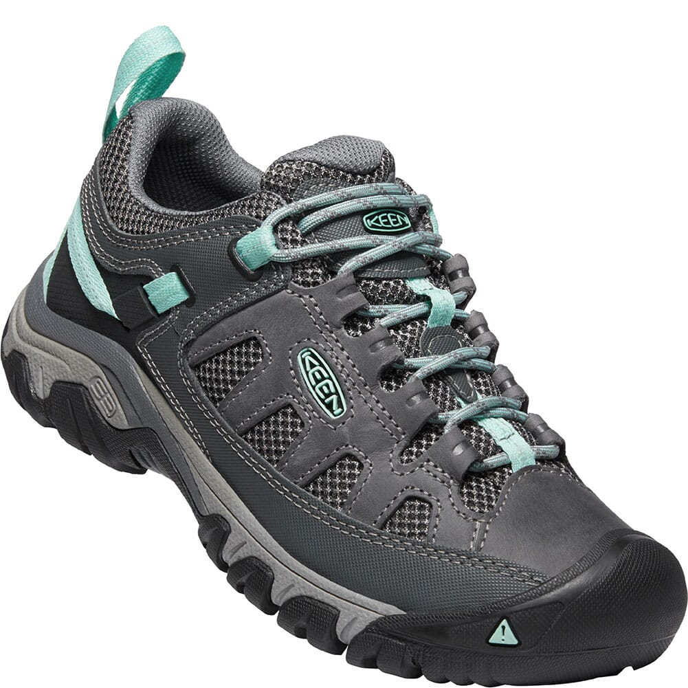 Image for KEEN Women's Targhee Vent Hiking Shoes - Steel Grey/Ocean Wave from bootbay