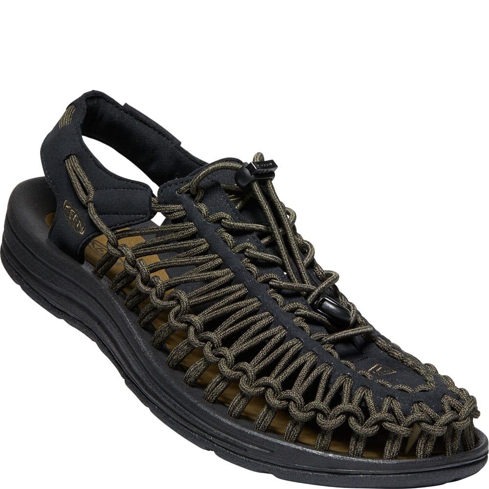Image for KEEN Men's Uneek Casual Sandals - Black/Dark Olive from elliottsboots