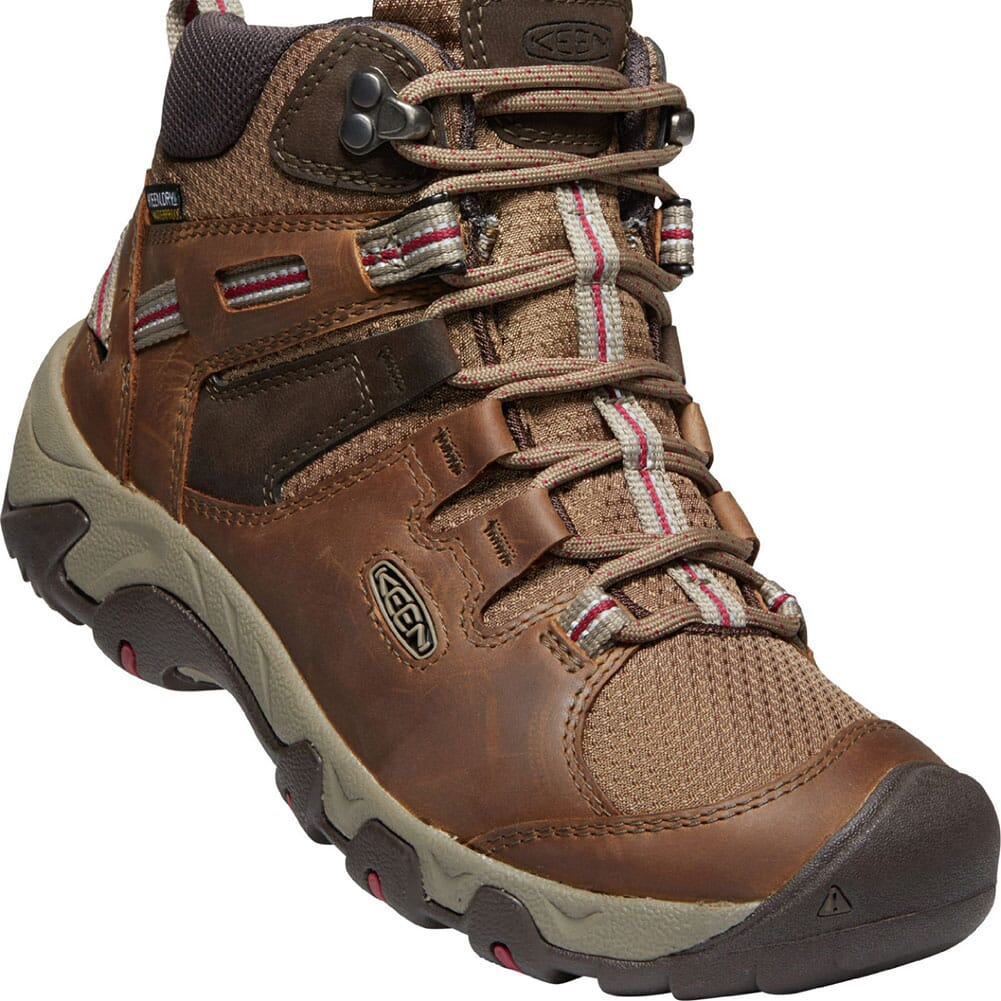 Image for KEEN Women's Steens Leather WP Hiking Boots - Toasted Coconut from elliottsboots