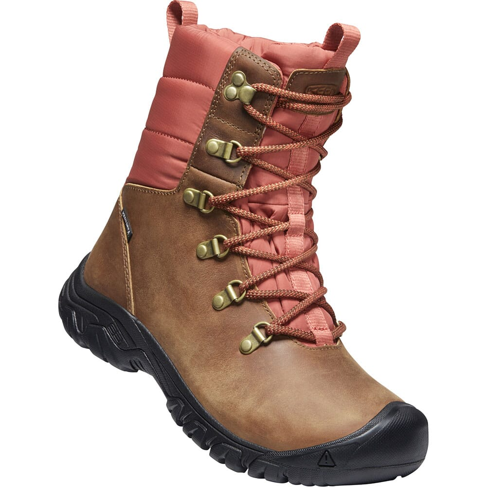 Image for KEEN Women's Greta WP Insulated Hiking Boots - Toasted Coconut/Redwood from bootbay
