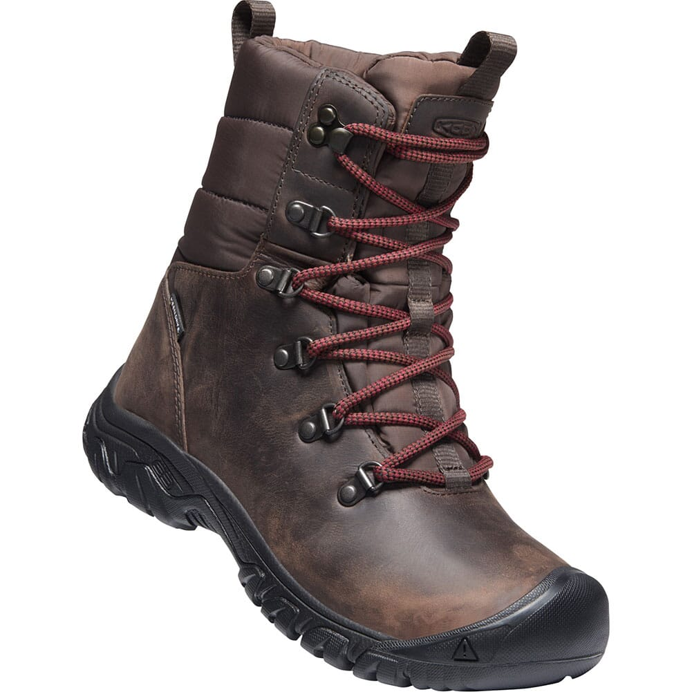 Image for KEEN Women's Greta WP Insulated Hiking Boots - Chestnut/Mulch from elliottsboots