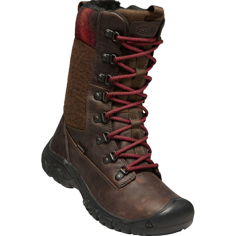 Image for KEEN Women's Greta WP Hiking Boots - Toasted Coconut/Redwood from bootbay