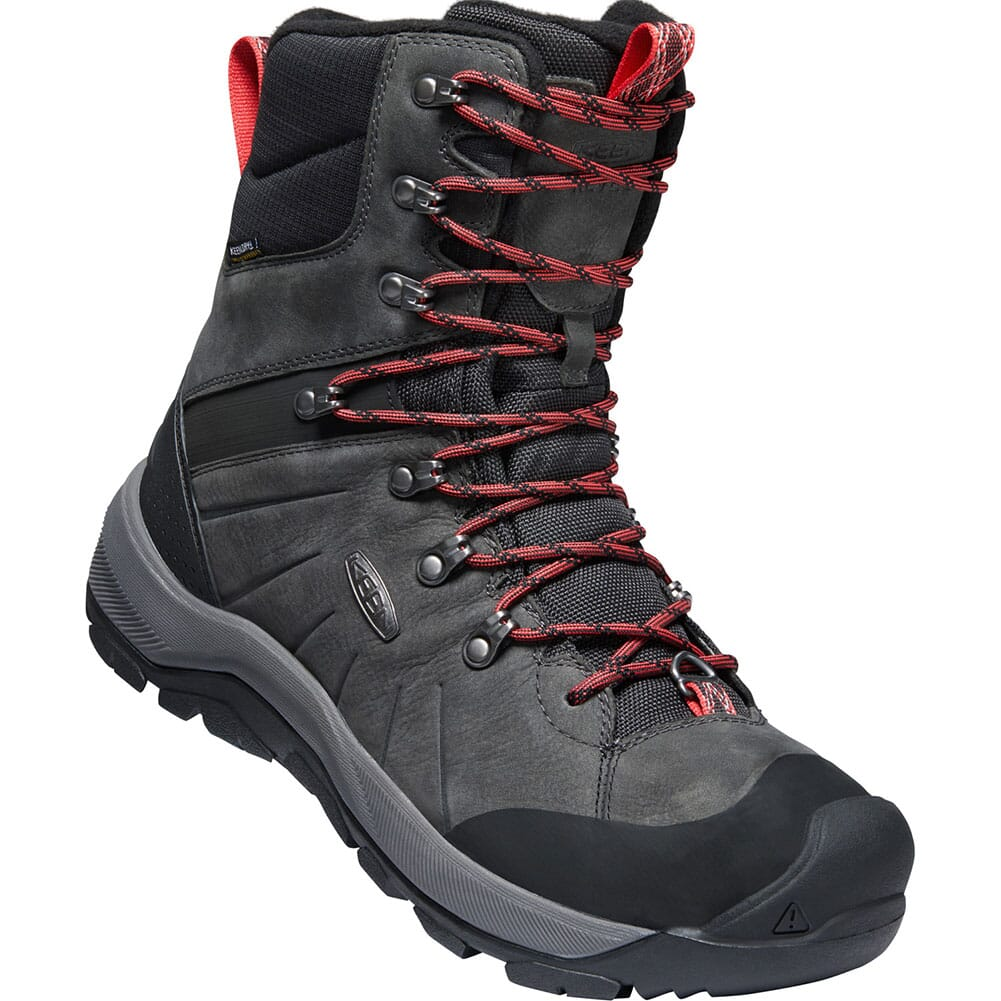 Image for KEEN Men's Revel IV High Polar Hiking Boots - Magnet/Red Carpet from bootbay