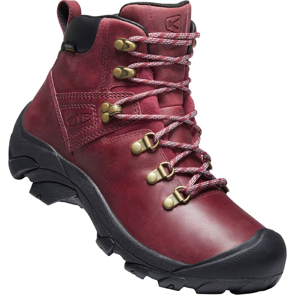 Image for KEEN Women's Pyrenees Hiking Boots - Tibetan Red/Black from elliottsboots
