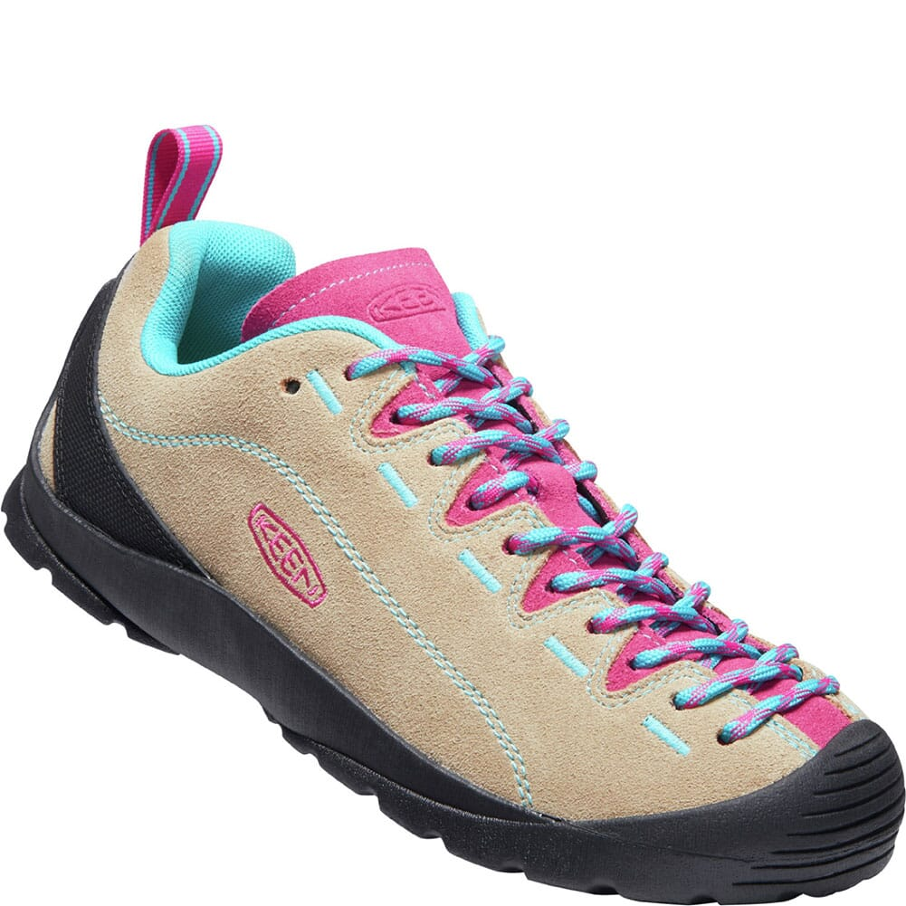 Image for KEEN Women's Jasper Suede Sneakers - Safari/Pink Peacock from bootbay