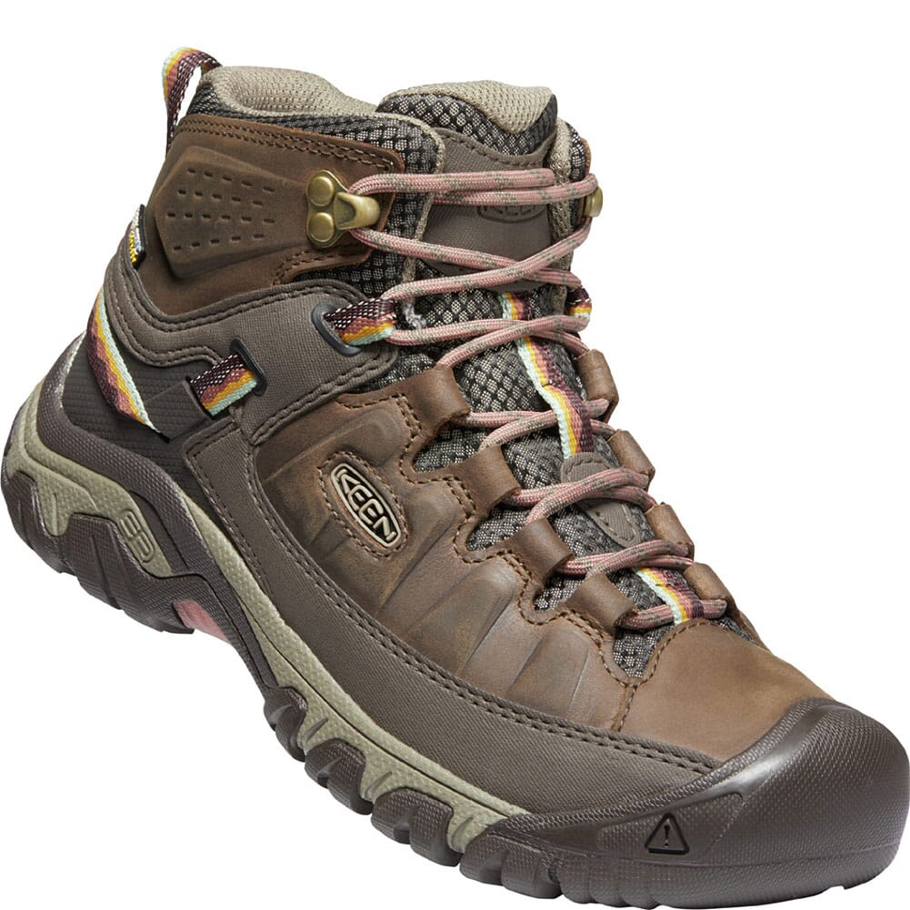 Image for KEEN Women's Targhee III WP Mid Hiking Boots - Bungee Cord/Redwood from elliottsboots