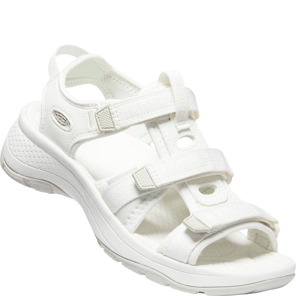 Image for KEEN Women's Astoria West Open Toe Sandals - White from bootbay