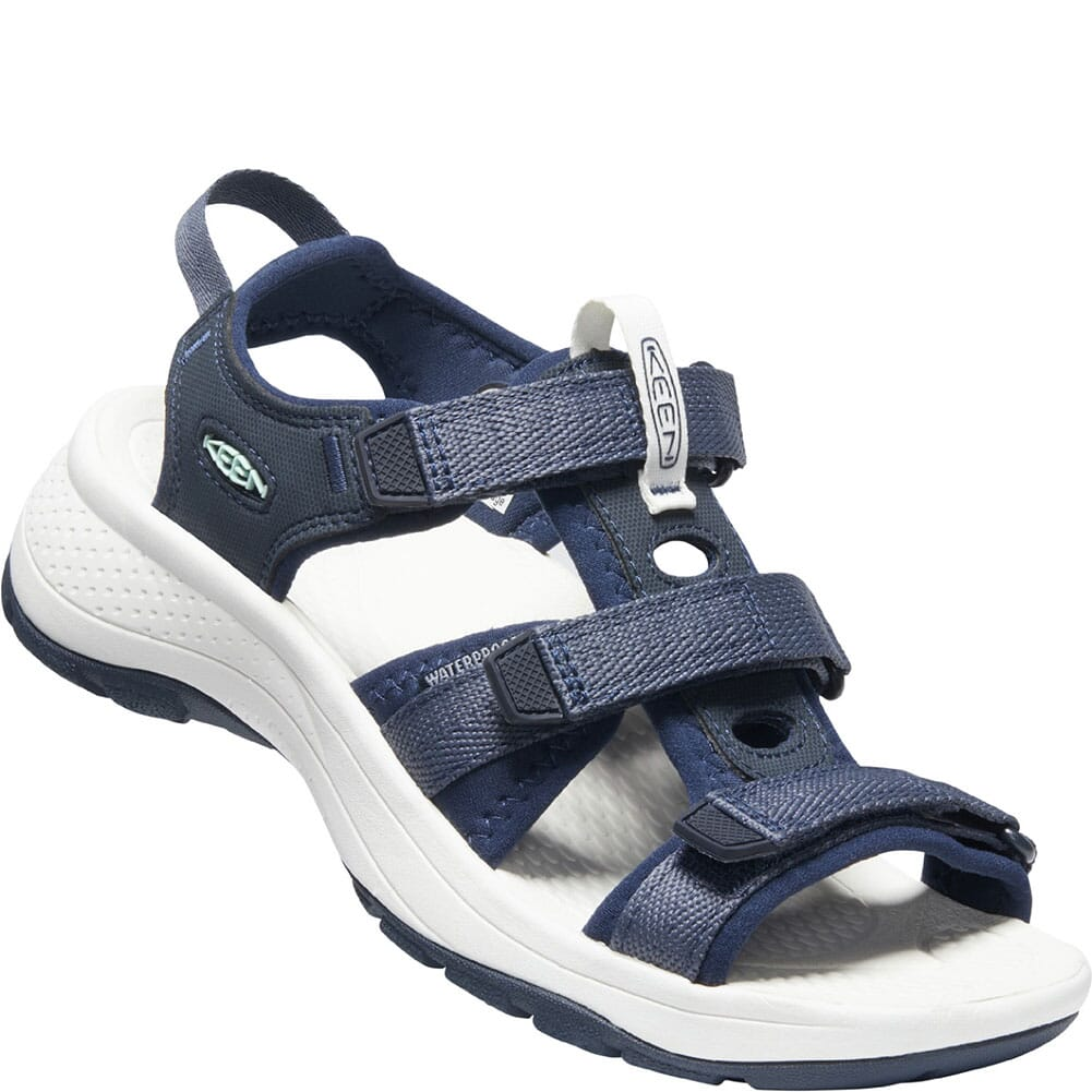 Image for KEEN Women's Astoria West Open Toe Sandals - Blue Nights/Black Iris from bootbay