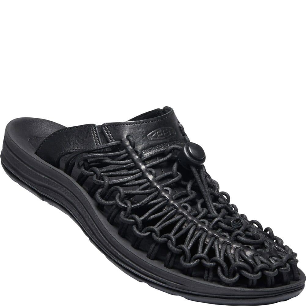 Image for KEEN Women's UNEEK Premium Leather Sandals - Triple Black from elliottsboots