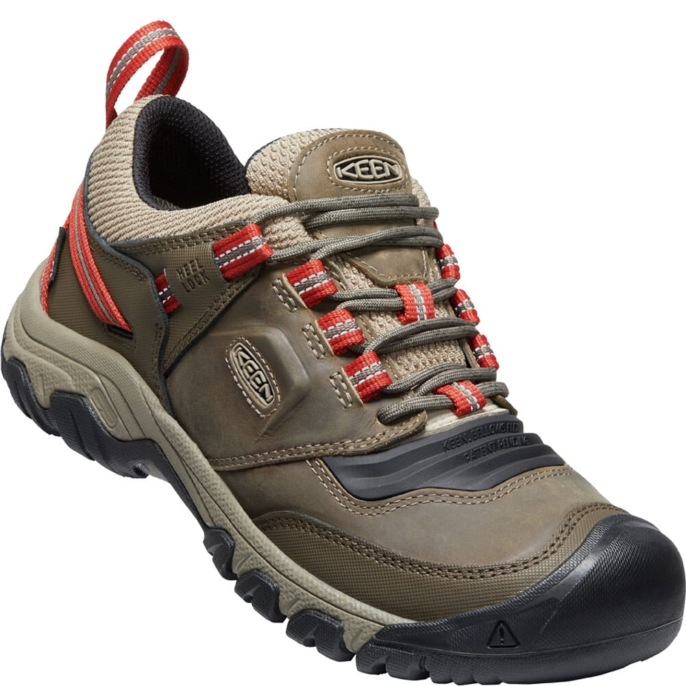 Image for KEEN Men's Ridge Flex WP Hiking Shoes - Timberwolf/Ketchup from bootbay