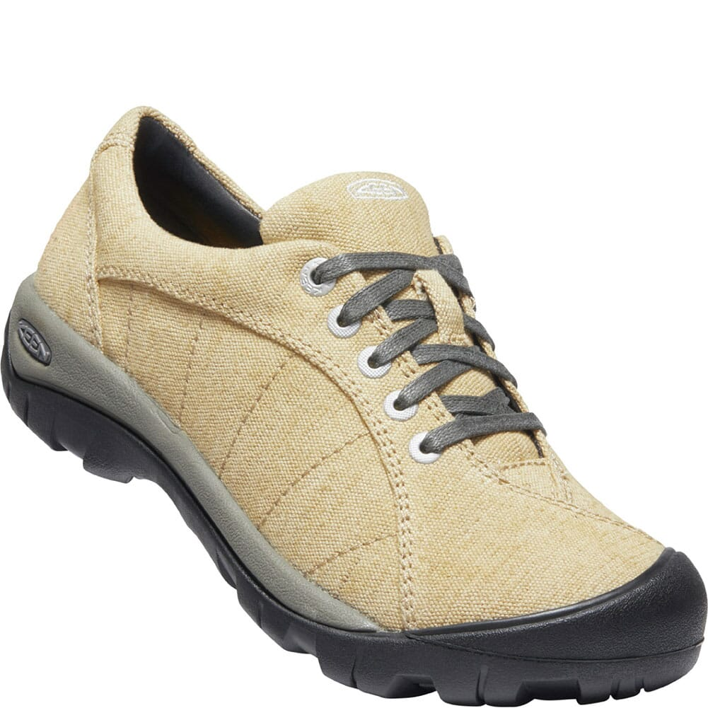 Image for KEEN Women's Presidio Canvas Casual Shoes - Taupe from bootbay
