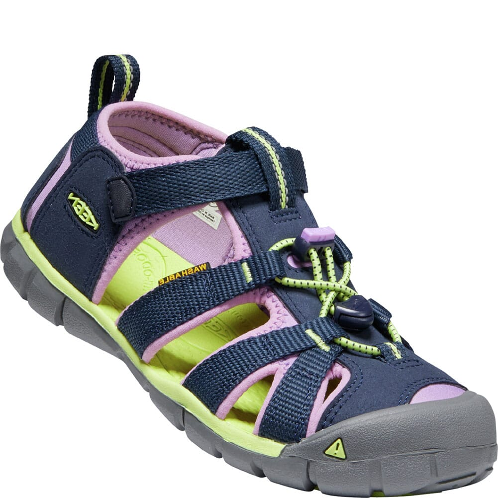 Image for KEEN Kid's Seacamp II CNX Sandals - Black Iris/African Violet from bootbay