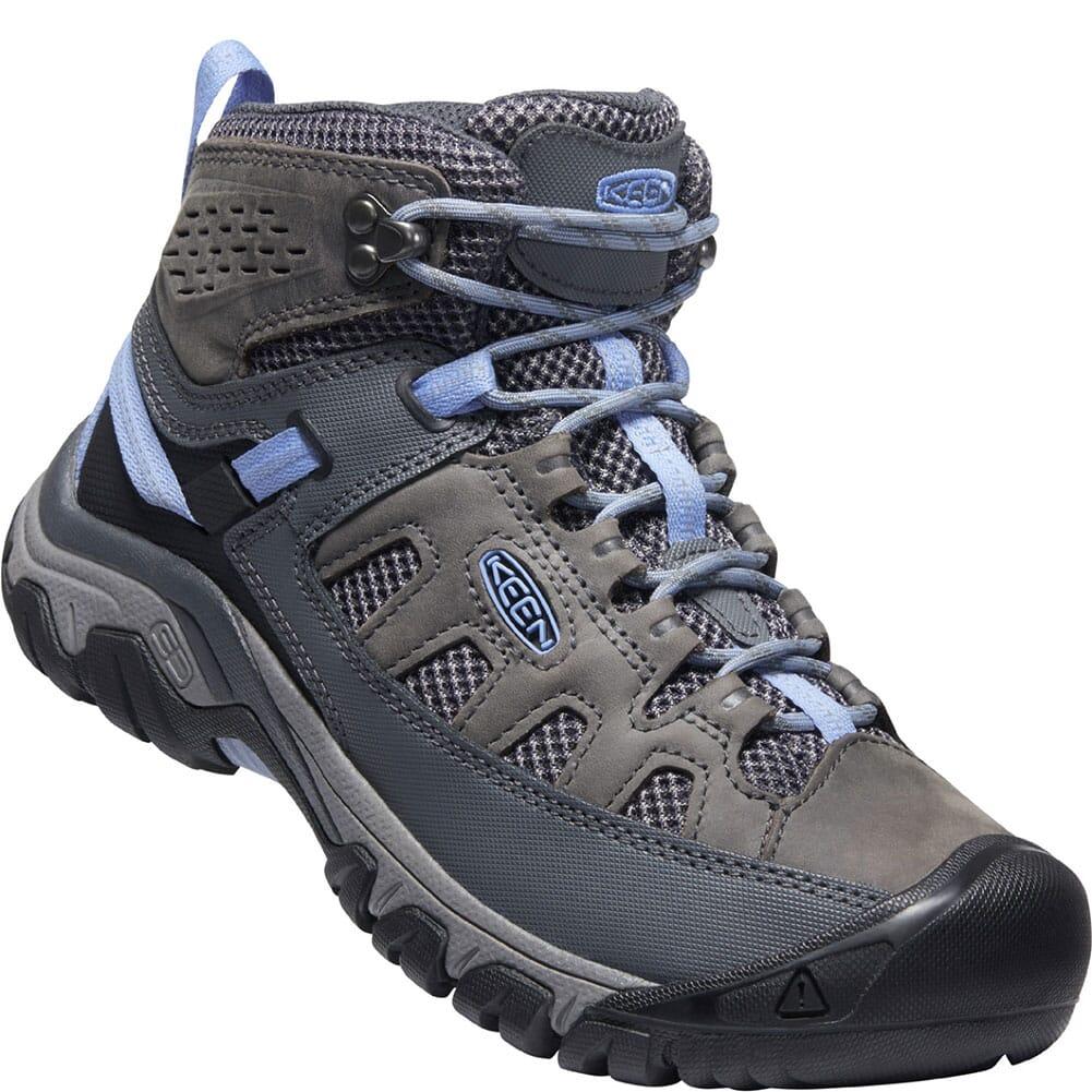 Image for KEEN Women's Targhee Vent Mid Hiking Boots - Steel Grey/Hydrangea from elliottsboots