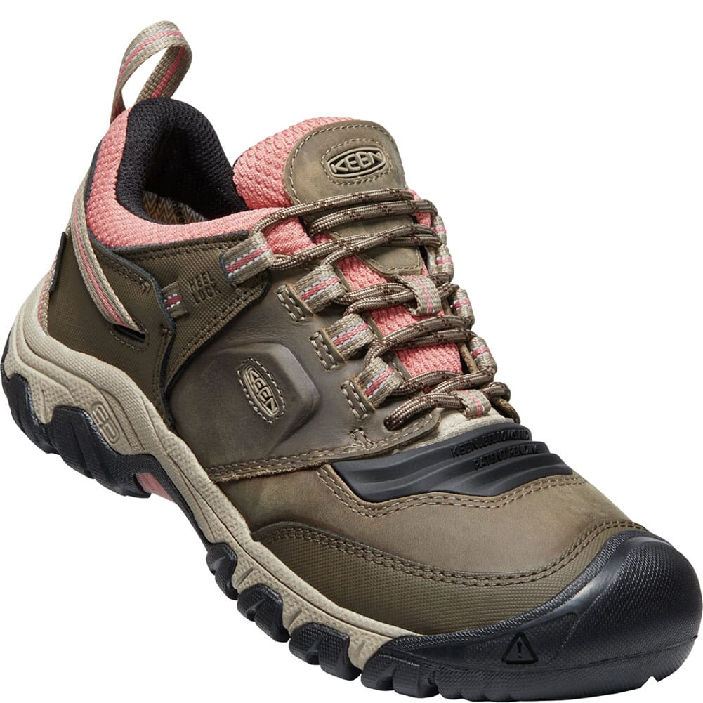 Image for KEEN Women's Ridge Flex WP Hiking Boots - Timberwolf/Brick Dust from bootbay