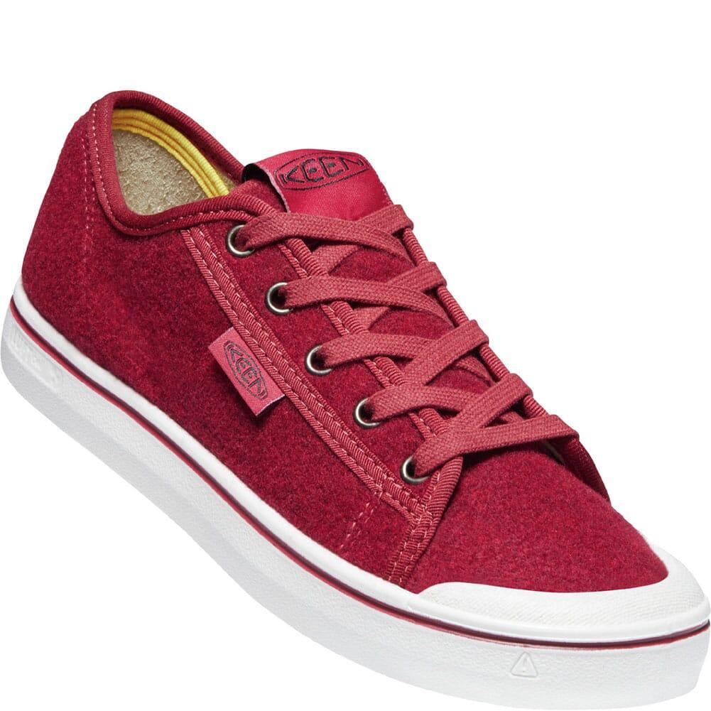 Image for KEEN Women's Elsa Lite Felt Sneakers - Red Felt/Vapor from bootbay