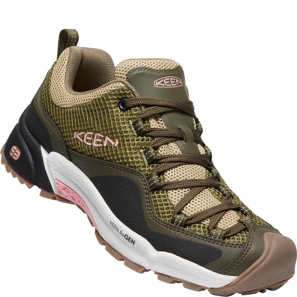 Image for KEEN Women's Wasatch Crest Vent Hiking Shoes - Olive Drab/Pink Icing from bootbay