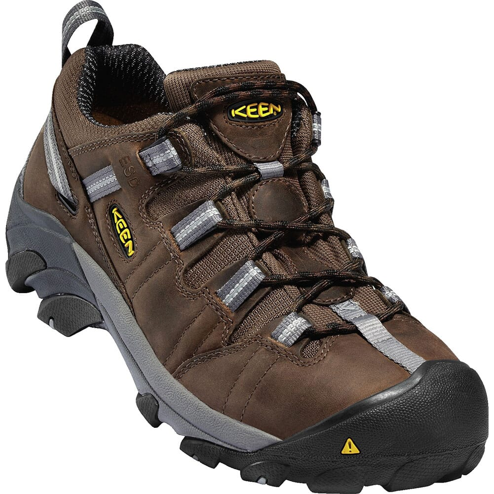 Image for KEEN Utility Men's Detroit Low ESD Safety Shoes - Dark Brown from bootbay